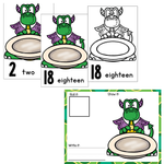 Numbers 1-20 Counting Activities| Dragons & Tacos | Mini Erasers
