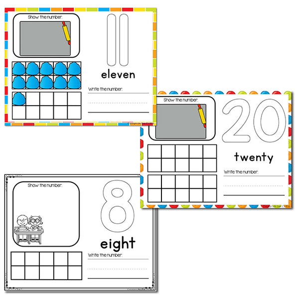 Play Dough Numbers 1-20 Counting Activities Dollar Deal