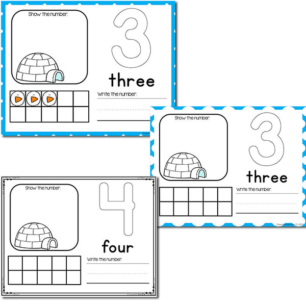 Snow Theme Numbers 1-20 Counting Activities | Counting to 20 | Math Centers