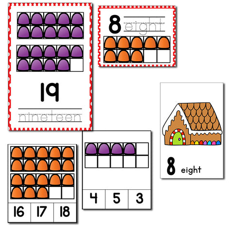 Christmas Theme Numbers 1-20 Counting Activities | Counting to 20 | Math Centers