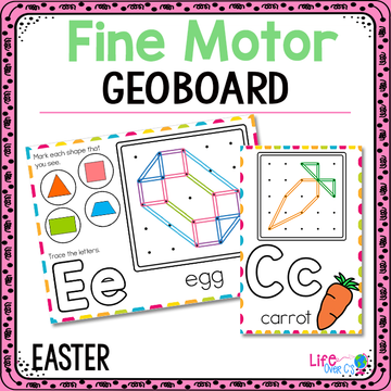 Fine Motor Mats for Easter | Geoboards
