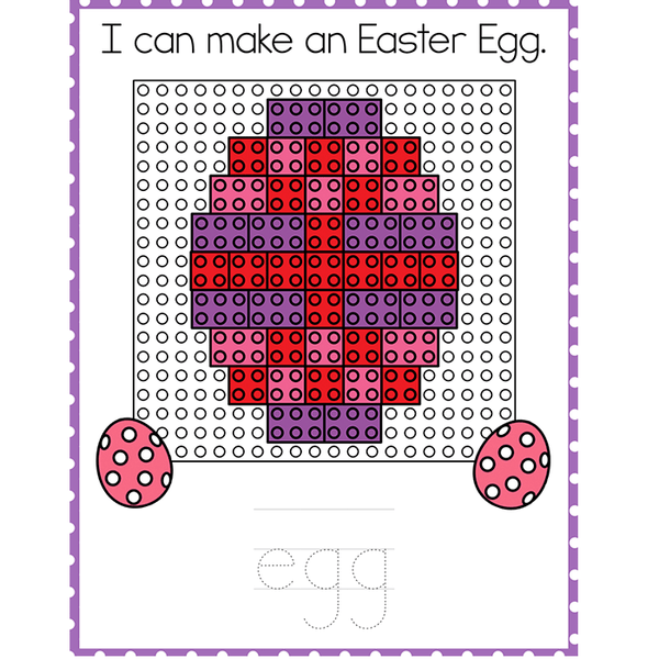 Fine Motor Mats for Easter | Building Bricks