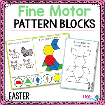Fine Motor Mats for Easter | Pattern Blocks