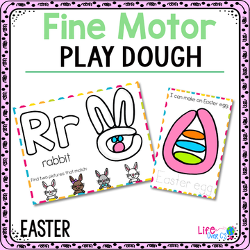 Fine Motor Mats for Easter | Play Dough