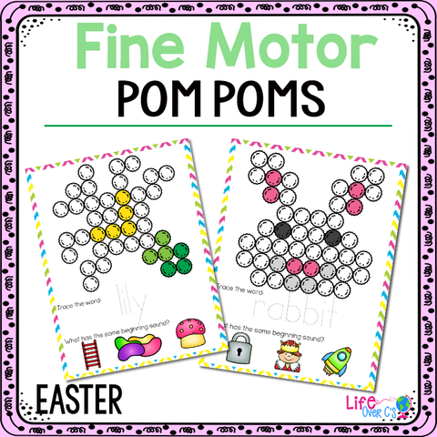 Fine Motor Mats for Easter | Pom Poms