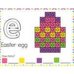 Fine Motor Mats for Easter | Snap Cubes