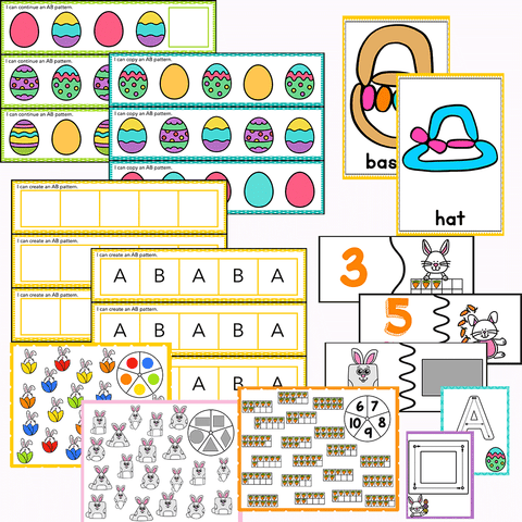 Preschool/ Pre-k Math & Literacy Centers | Easter Theme