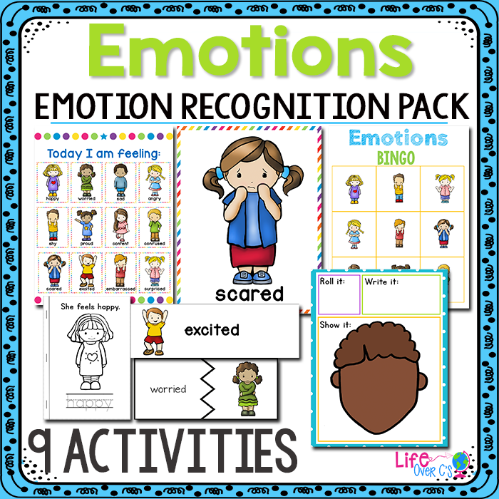 9 printable activities for teaching emotions.