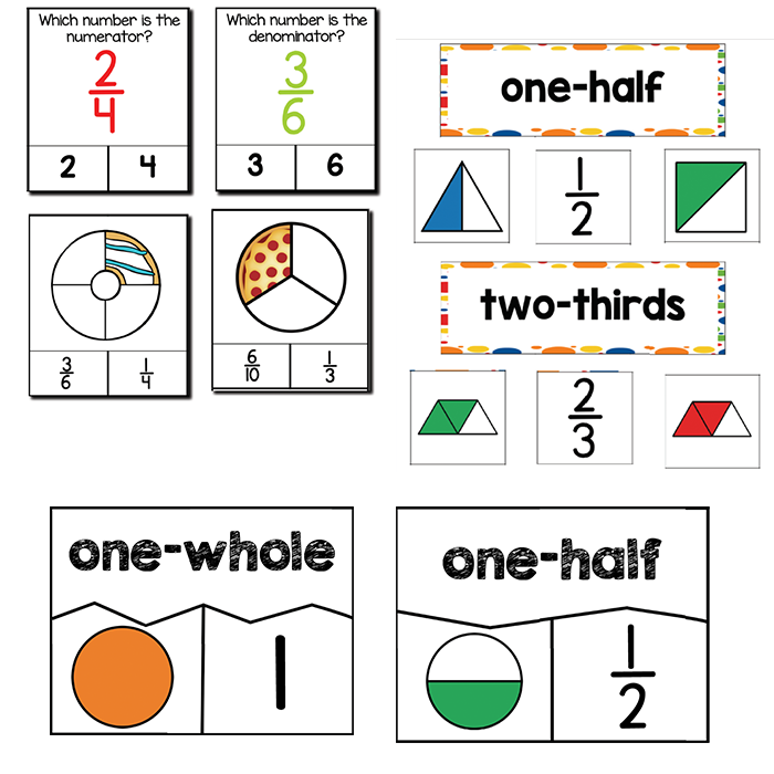 Simple Fractions | 1st Grade Math Centers – lifeovercs