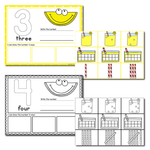 1-20 Lemonade Number Recognition Mats | Ten-frames, Array, Tally Marks