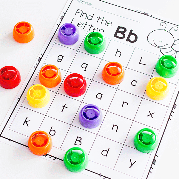 Free printable letter recognition printable for kindergarten. Work on uppercase and lowercase letters.