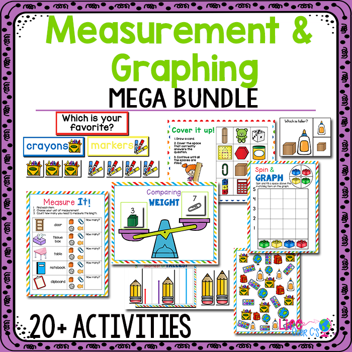 photograph relating to Printable Math Centers titled Dimension and Graphing Kindergarten Math Facilities