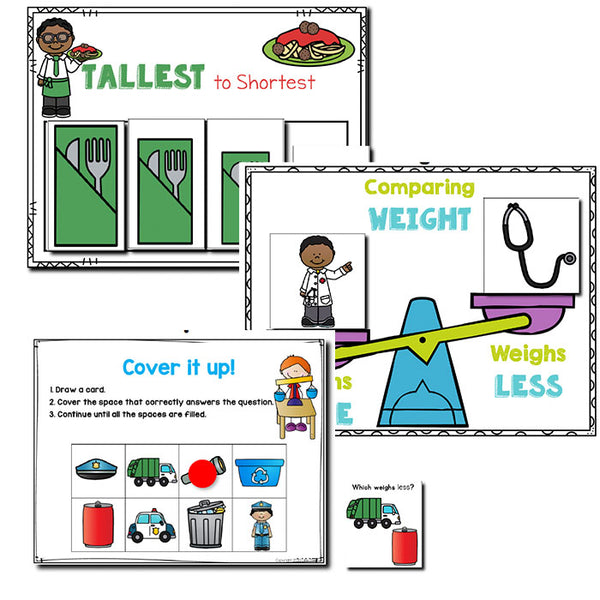 Community Helpers Measurement | Pre-K/Preschool Math Centers