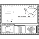 Silly Monster Number Recognition Mats | Ten-frames, Array, Tally Marks