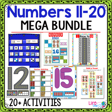 Numbers 11-20 | Kindergarten Math Centers