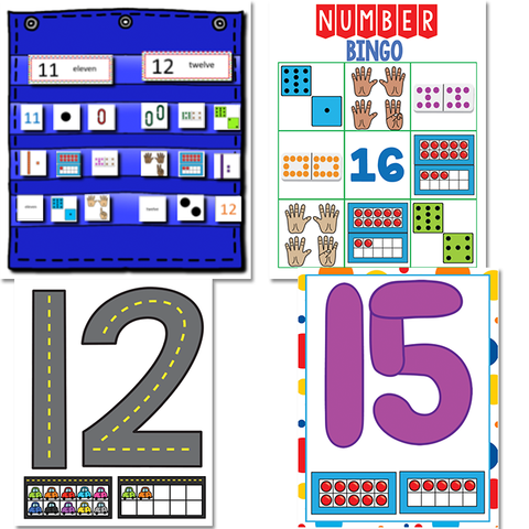 Kindergarten Math Growing BUNDLE | Year Long Differentiated Math SALE