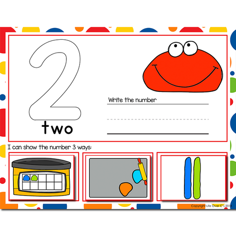 1-20 Play Dough Number Recognition Mats | Ten-frames, Array, Tally Marks