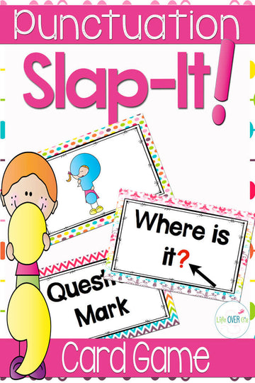 "Punctuation Card Game ""Slap-It!"" ELA/Literacy Center"