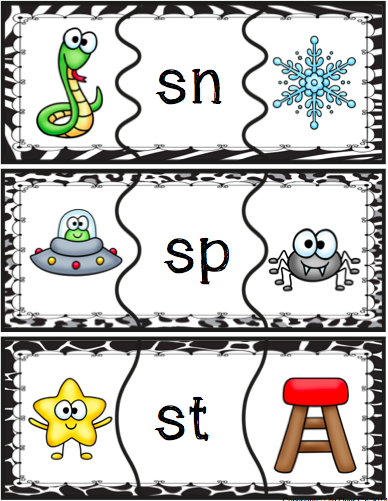 Beginning Blends Puzzles (Digraphs Included)