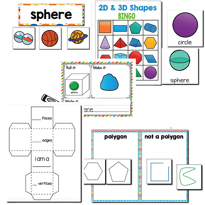 2D and 3D Shapes | 1st Grade Math Centers – lifeovercs