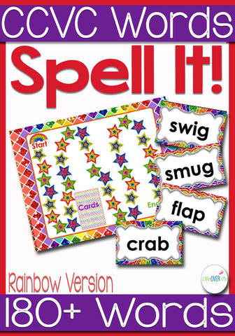 Kids will love practicing CCVC Words with this fun initial blends board game. With over 180 initial blends words, it will be a new game every time they play!