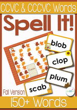 This initial blends game is perfect for practicing blends with short vowels. Easy to read, easy to spell and lots of fun!