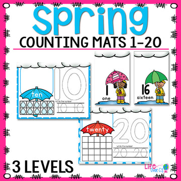 Spring Counting Mats for 1-20