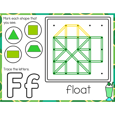 Fine Motor Mats for St. Patrick's Day | Geoboards