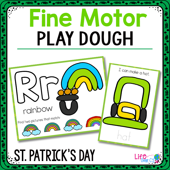 Fine Motor Mats for St. Patrick's Day | Play Dough