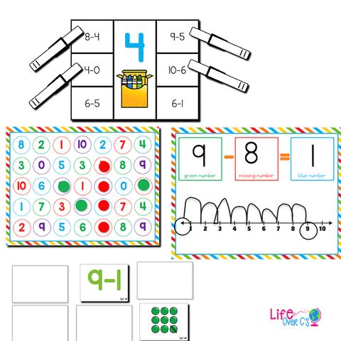Subtraction within 10 | Kindergarten Math Centers