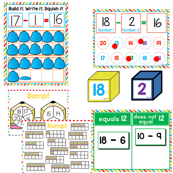 Subtraction within 20 | 1st Grade Math Centers