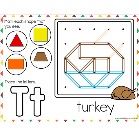 Fine Motor Mats for Thanksgiving | Geoboards