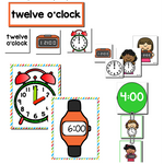 Time to the Hour Pack | Kindergarten Math Centers