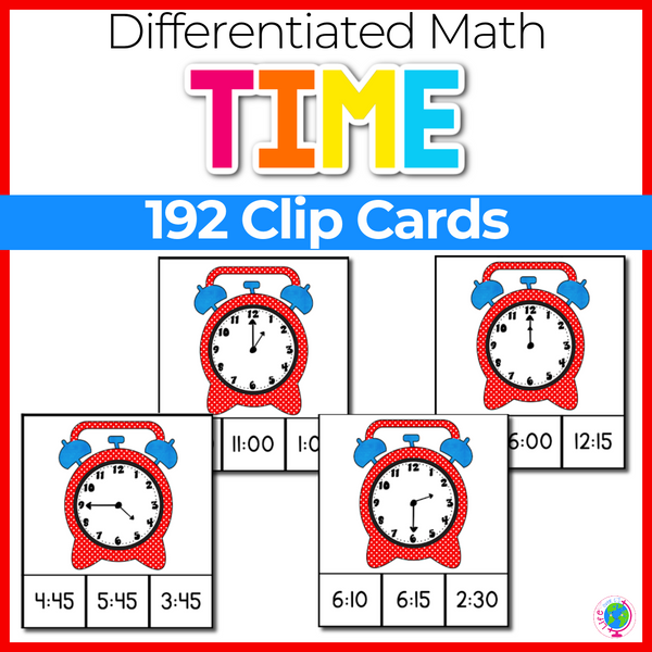 Time Clip Cards: 192 Cards Multiple Levels