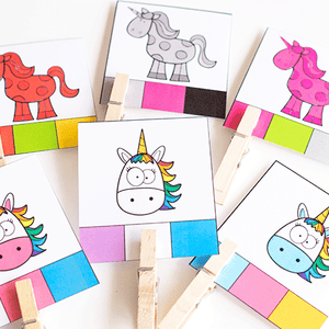 Unicorn Color Activities for Preschool