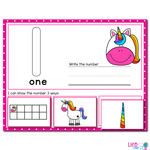 1-20 Unicorn Number Recognition Mats | Ten-frames, Array, Tally Marks