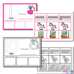 Number Recognition Mats | Ten-frames, Array, Tally Marks