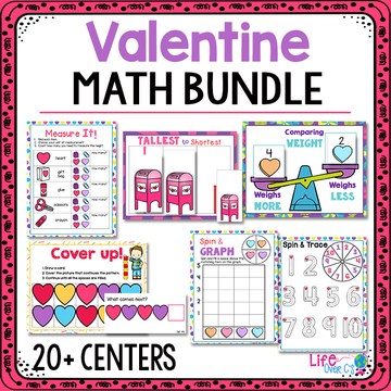 Valentine Preschool Math Activities: 20+ Centers