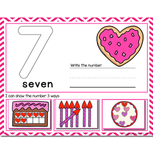1-20 Valentine Number Recognition Mats | Ten-frames, Array, Tally Marks
