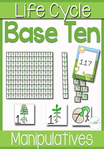 Place Value Activities Plant Life Cycle Theme | Math Centers