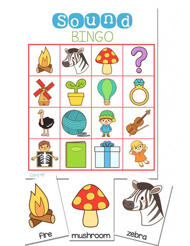 Beginning Sounds BINGO