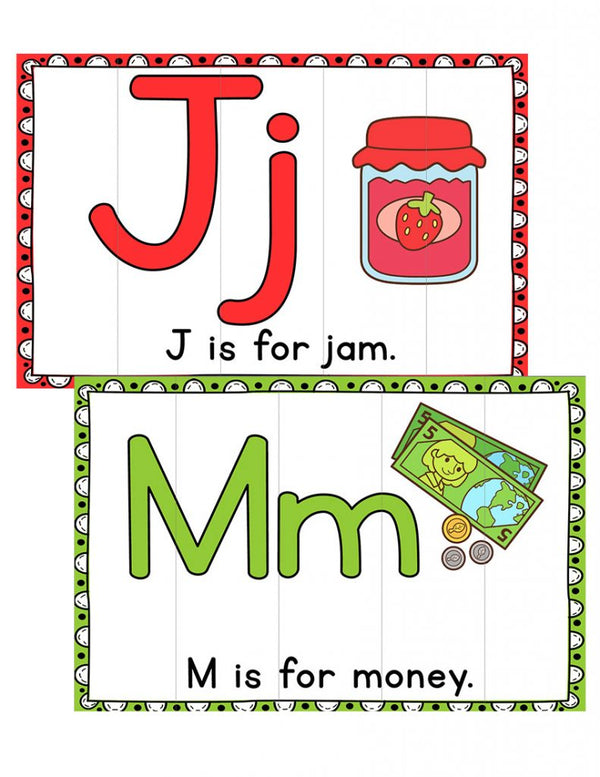 Beginning Sounds Alphabet Puzzles