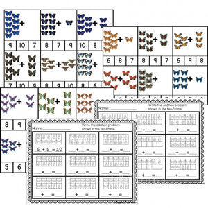 These butterfly addition clip cards are a great way to assess your students understanding of addition. They would be a great addition to any butterfly unit!
