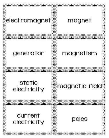 An electricity and magnets card game that your students will love! Vocabulary review has never been so fun!