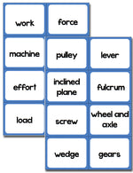 Force and Motion Vocabulary Review Card Game