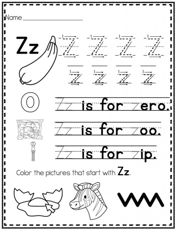 These alphabet handwriting pages can be laminated and put together for a book or print the black & white version for student pages. A fun way to work on letters!