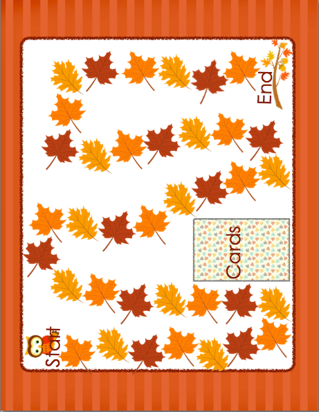 Initial Blends Game CCVC/CCCVC Fall Themed
