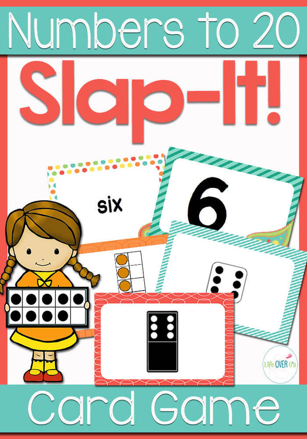 Numbers 0-20 Slap-It Card Game