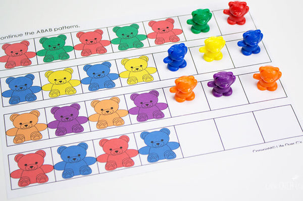 Just one of the pattern mats included in this huge preschool pack!