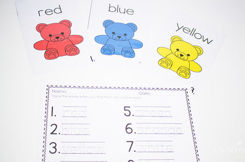 Read, write and draw the room with this fun set of rainbow bear posters.